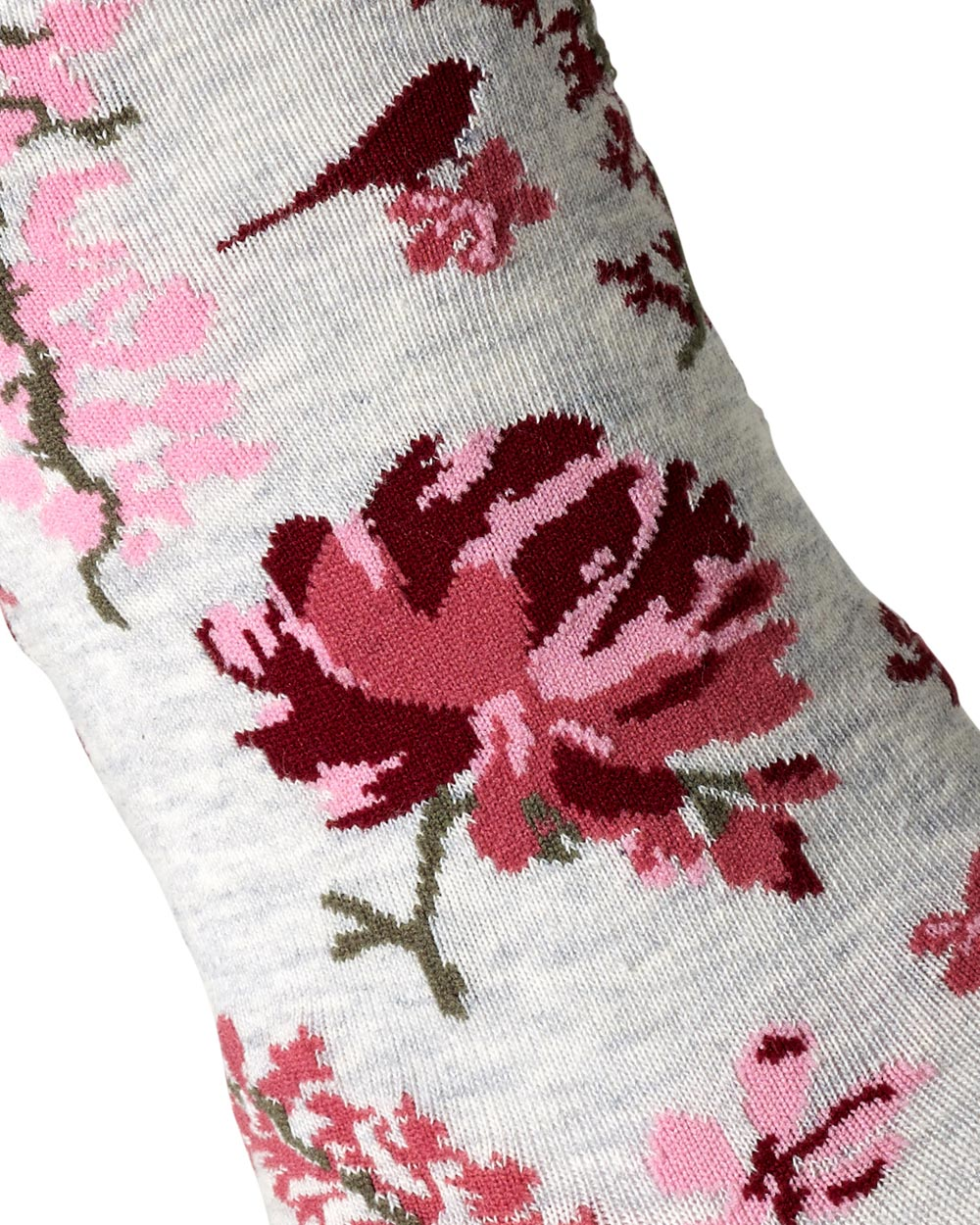 Plum Floral Garden City Socks Finch Belle