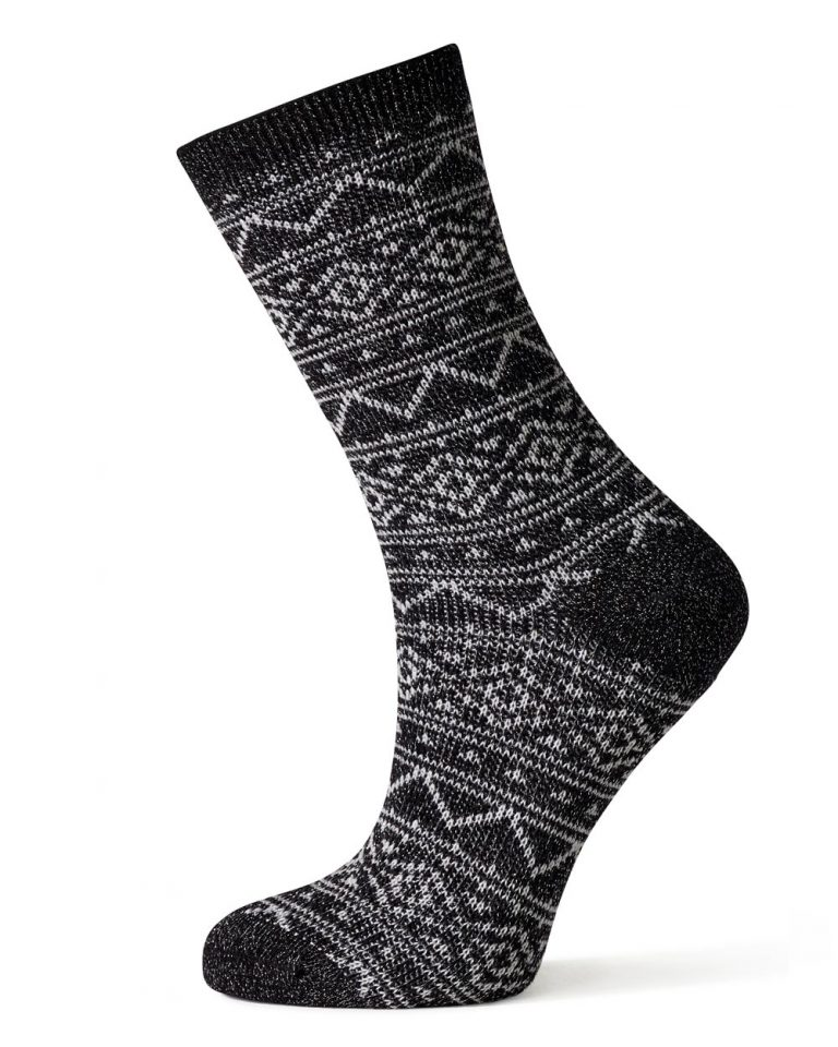 Side View of The Merino Wool Fairisle Sparkle
