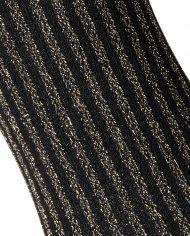 Close up of the Gold Lurex Vertical Stripe